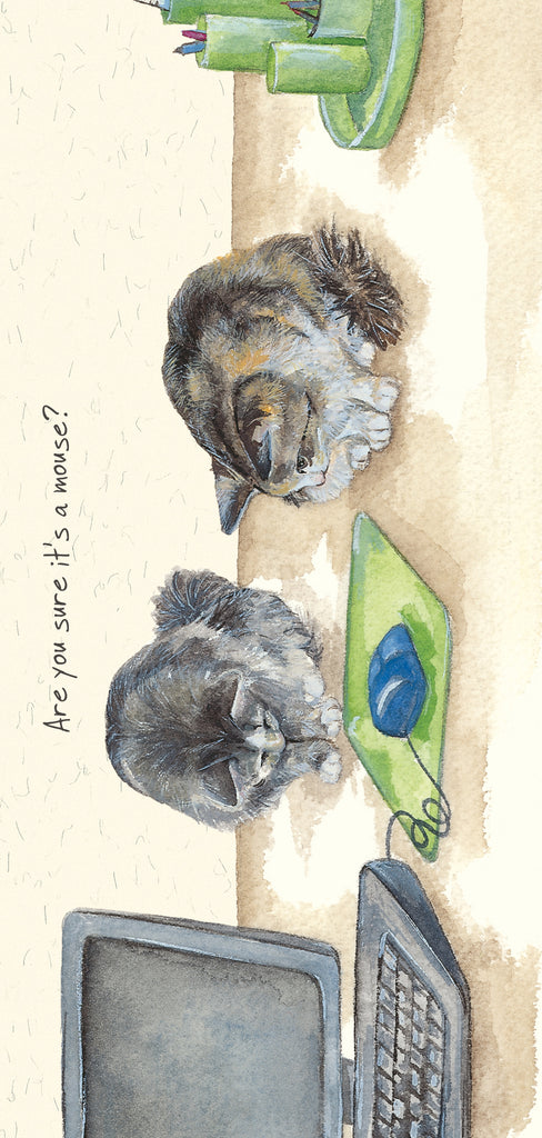 Office Cats - Greeting card