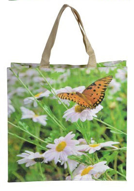 Butterfly Nature Print Shopping Bag