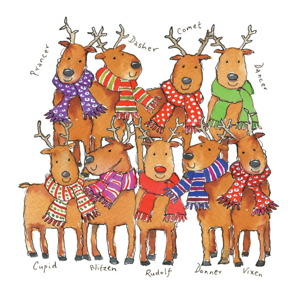 'Team Rudolph' Christmas Card