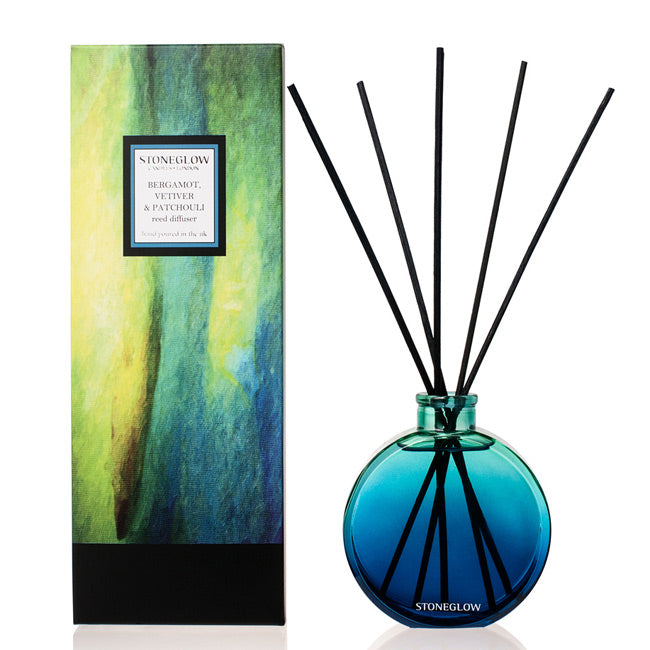 Stoneglow Bergamot, Vetiver and Patchouli Reed Diffuser