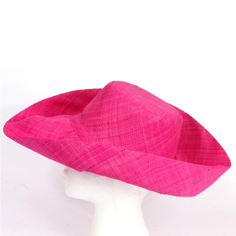 Madaraff Medium Brim Hat - Fushia