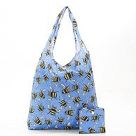 Eco Chic Bee Foldable Shopper Blue