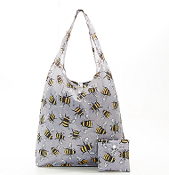 Eco Chic Bee Foldable Shopper Grey