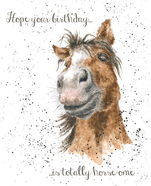 Horse-ome Greeting Card
