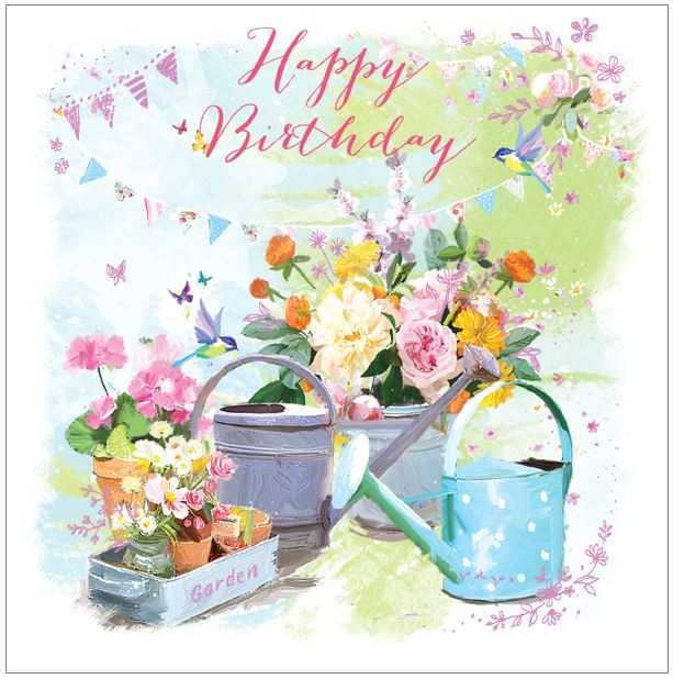 Ling Greeting Card -  Watering Cans