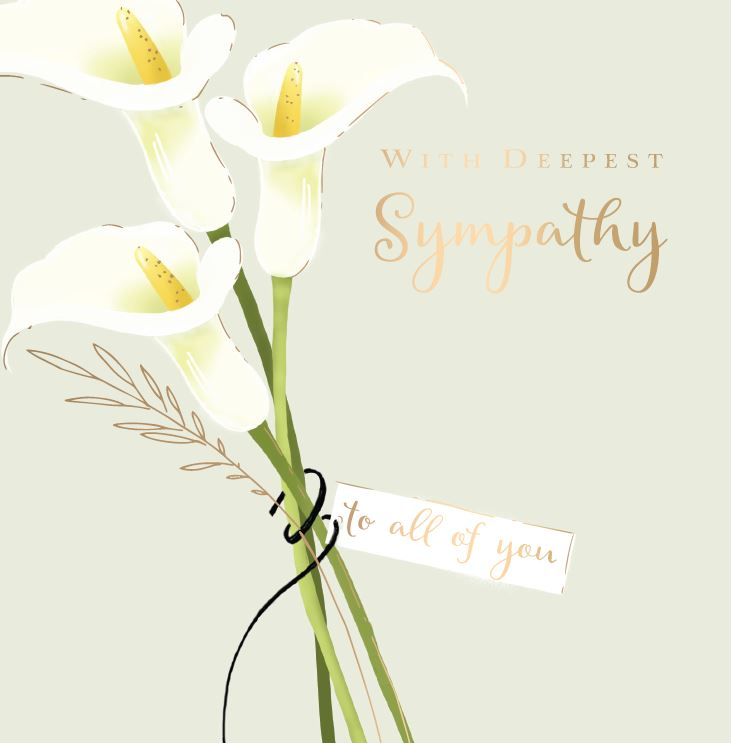 Ling Greeting Card - Arum Lilies