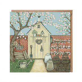 Wrendale Greeting Card - The Potting Shed