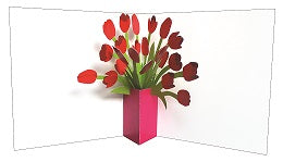 3D Pop up Card - Tulips