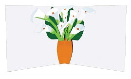 3D Pop up Card - Lillies