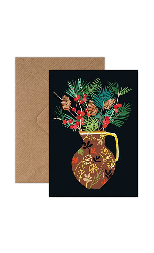 Brie Harrison Greeting Card - Berries & Fir
