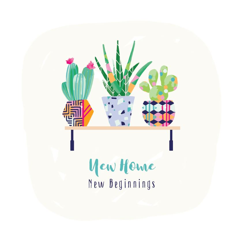 Ling Greeting Card - New Home New Beginnings