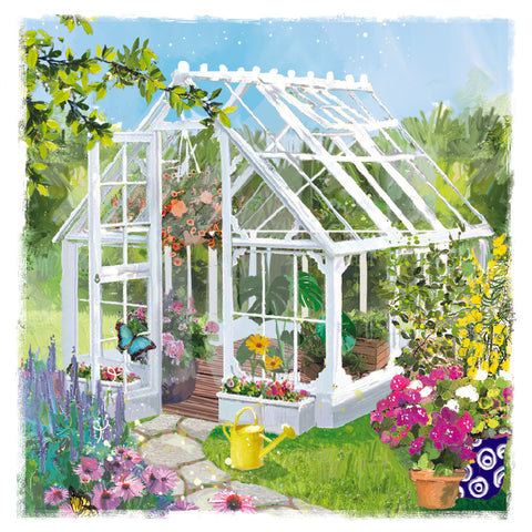 Ling Greeting Card - Summerhouse