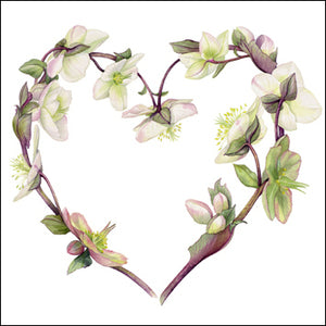 The Eco-Friendly Card Co - Hellebore Heart