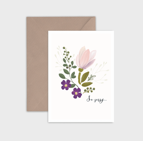Emma Byran Greeting Card - So sorry