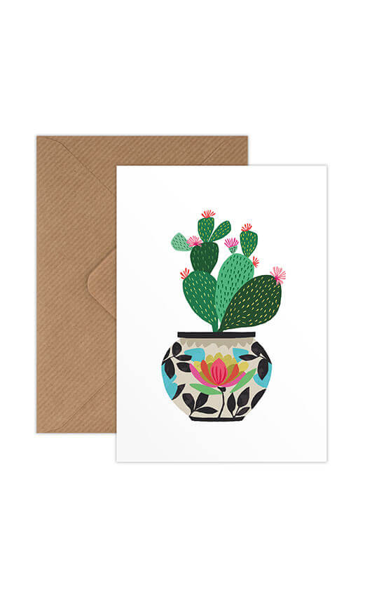 Brie Harrison Greeting Card - Cactus