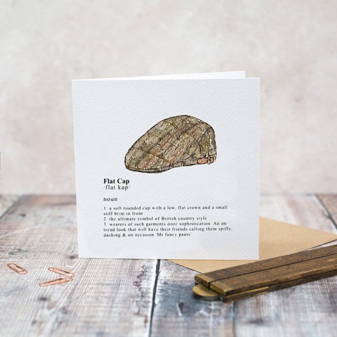 Toasted Crumpet Greeting Card - Flat Cap