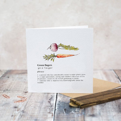 Toasted Crumpet Greeting Card - Green Fingers