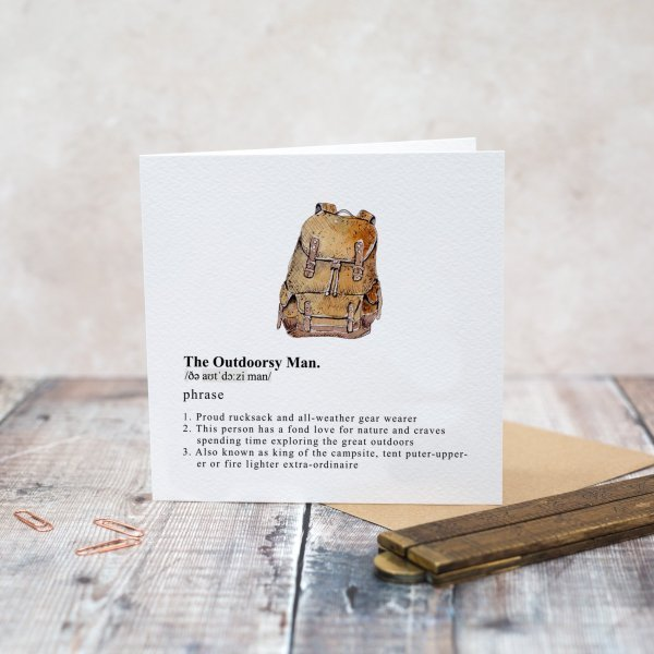 Toasted Crumpet Greeting Card - The Outdoorsy Man