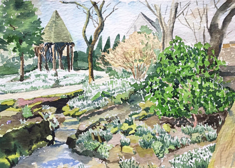 Ruth Dorrington - Streamside Snowdrops York Gate