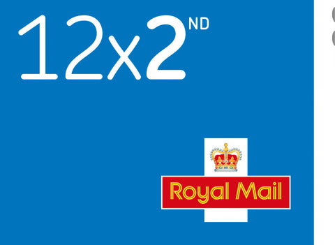 Royal Mail 2nd Class Stamp x 12
