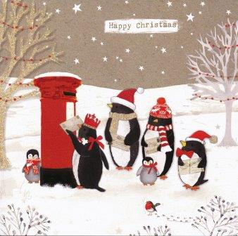 Christmas Card Penguin Post