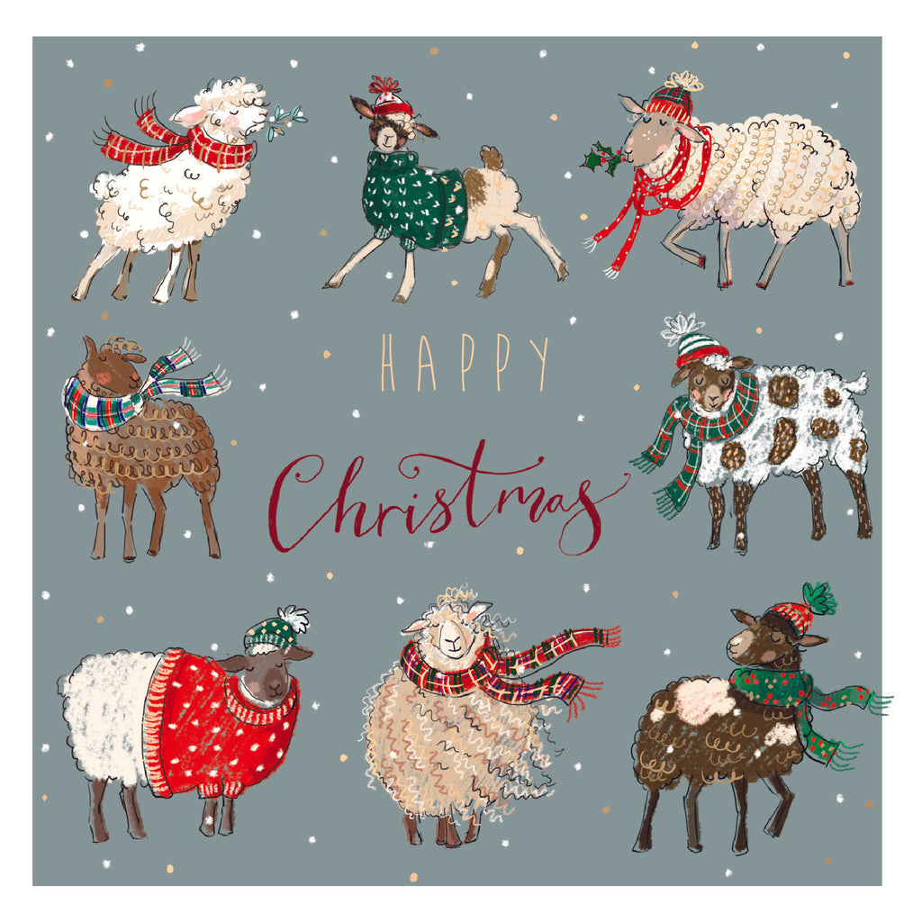 Christmas Card - Sheep in Jumpers
