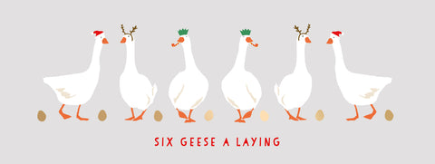 Christmas Cards - Six Geese A Laying