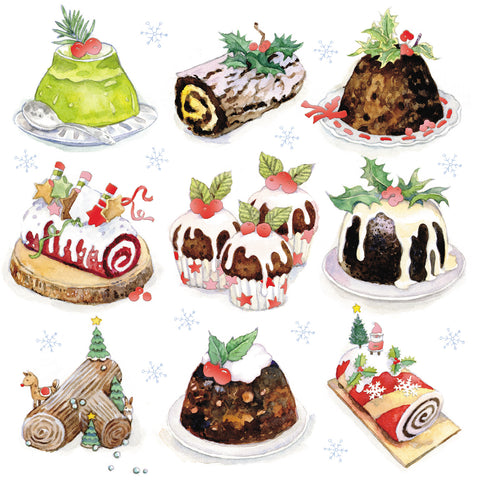 Christmas Cards - Christmas Puddings