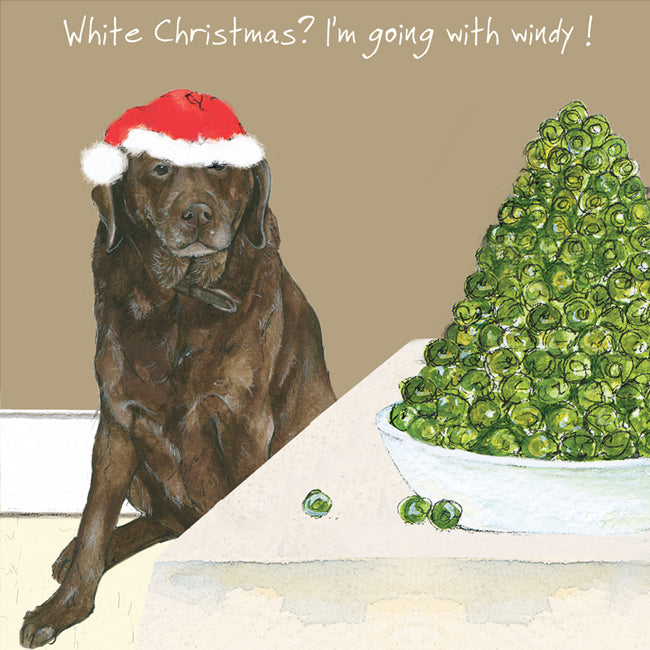 The Little Dog Laughed - Single Christmas Card Windy Christmas