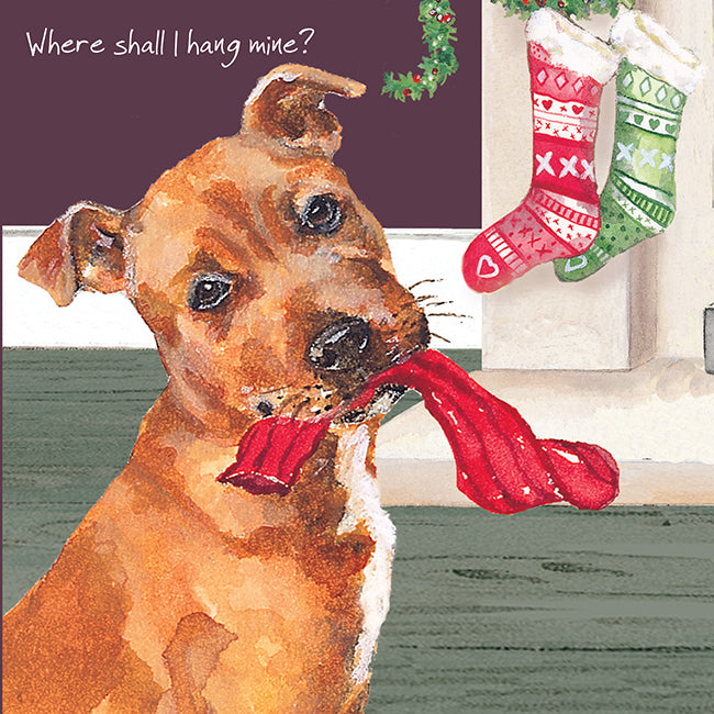 The Little Dog Laughed - Single Christmas Card Puppy