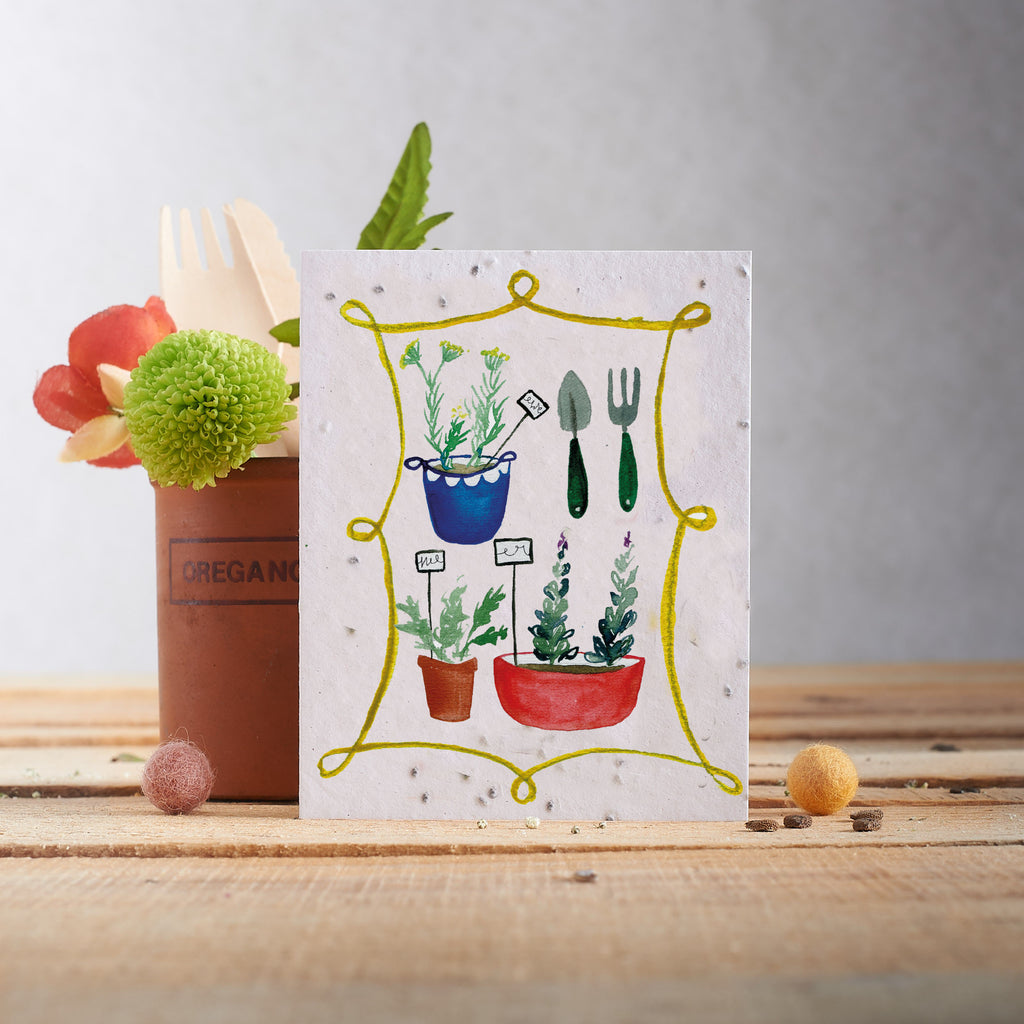 Hannah Marchant Greeting Card - Basil