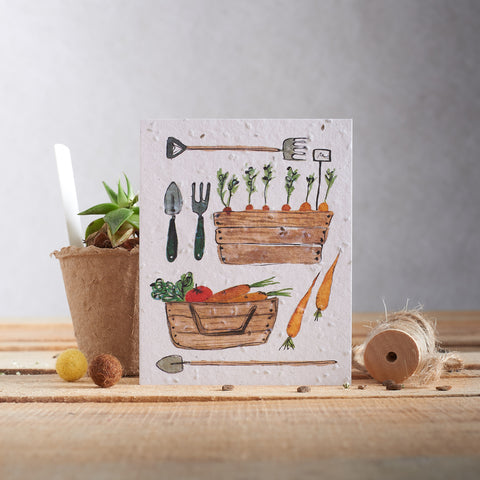 Hannah Marchant Greeting Card - Carrot