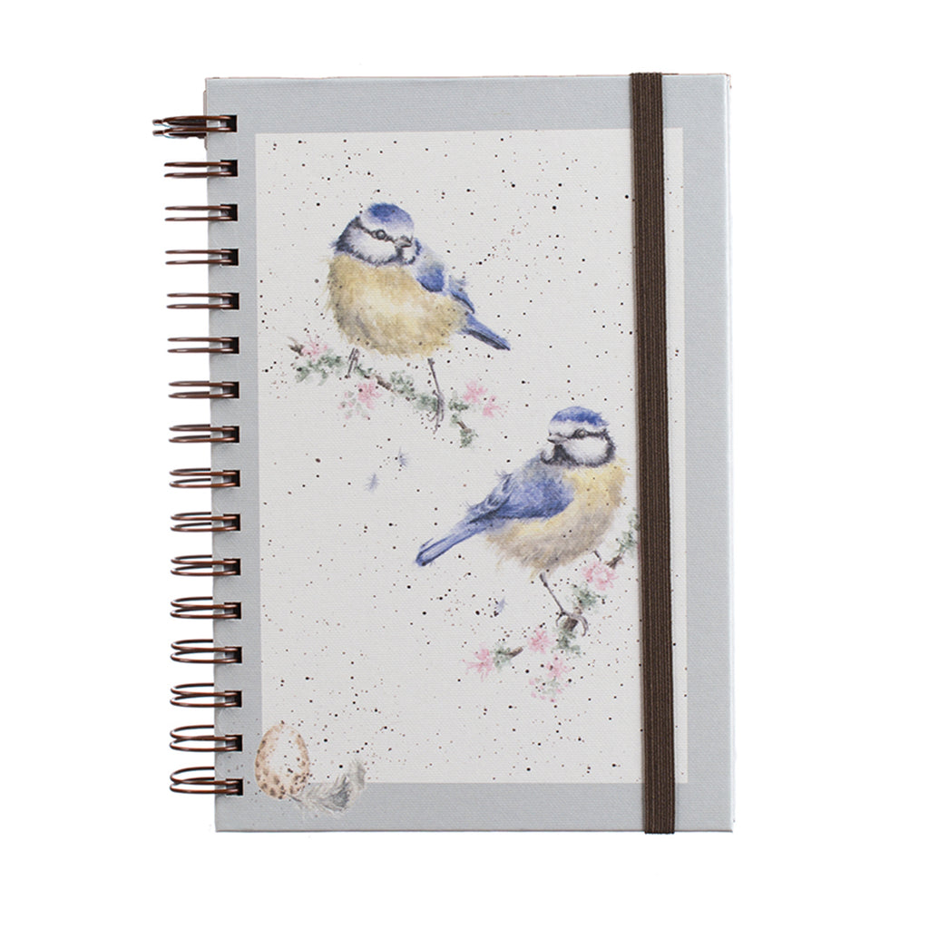 Blue tits - spiral bound notebook