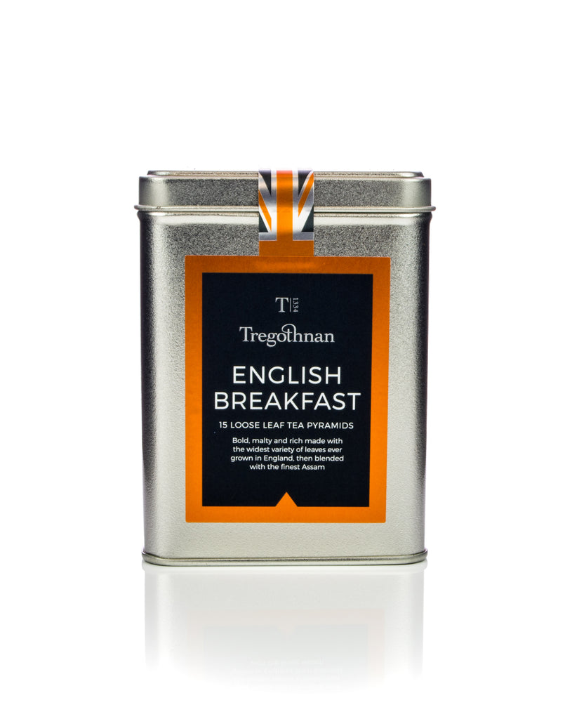 Tregothnan - Pyramid Tea Gift Tin English Breakfast Tea
