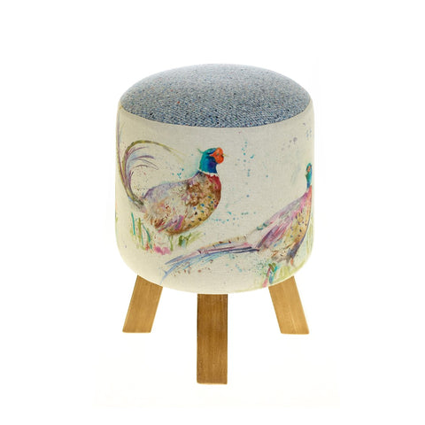 Voyage Footstool Dashing Pheasants