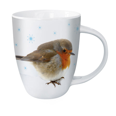 Hot Chocolate Mug - Snowy Robin