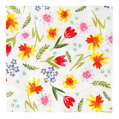 Napkins - Hop Over the Rainbow Floral Napkins