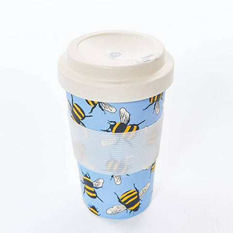 Eco Chic Bee Bamboo Coffee Cup - Blue