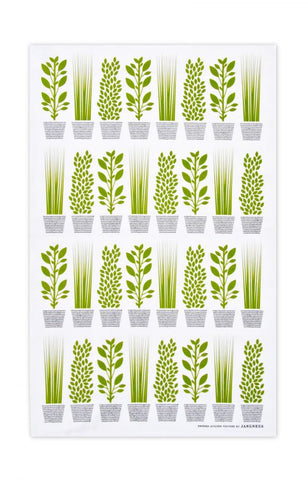 Jangneus - Green Herb Tea Towel