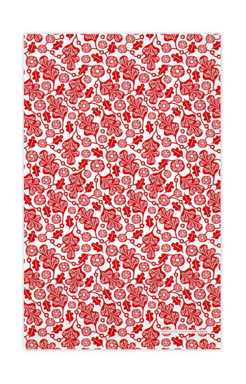 Jangneus - Red Oak Leaf Tea Towel