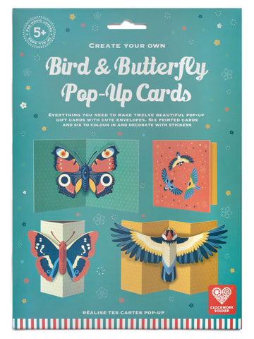 Clockwork Soldier - Bird and Butterfly Pop up Cards