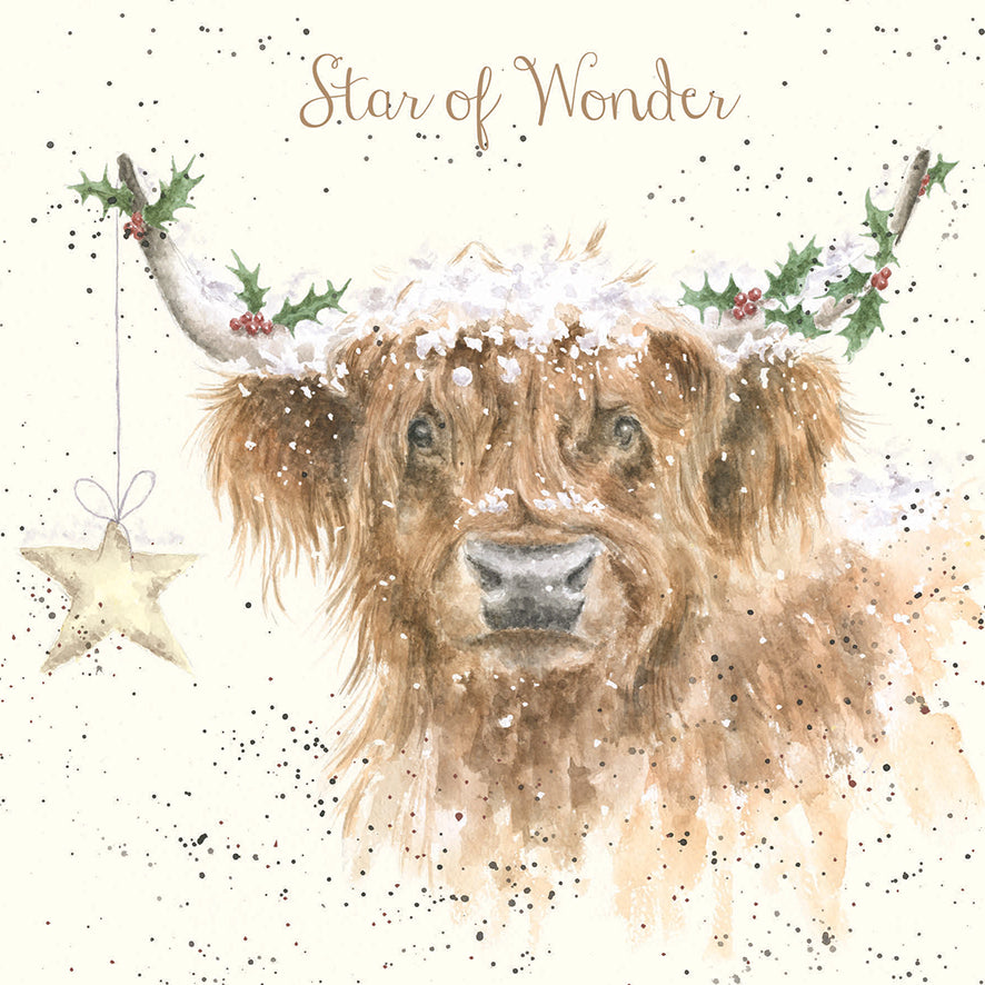 'Highland Star' Christmas Card
