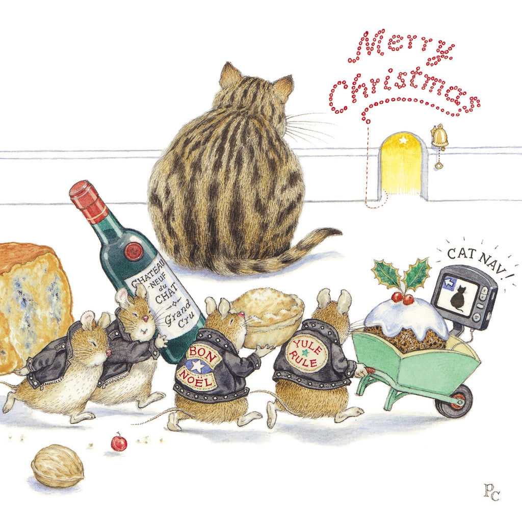 'Cat Nav' Christmas Card