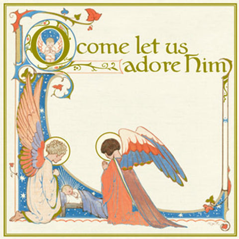'Adoring Angels' Christmas Cards