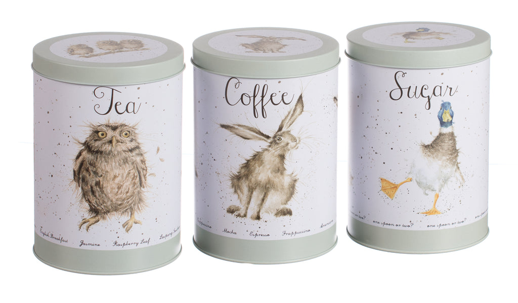 Super Wrendale Set of Tea, Coffee and Sugar Canisters – Perennial GRBS AU42