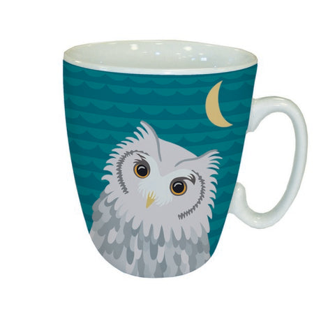 Owl and Moon Animal Mug