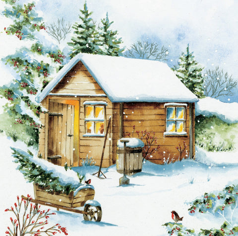 'A Garden In Winter' Christmas Card