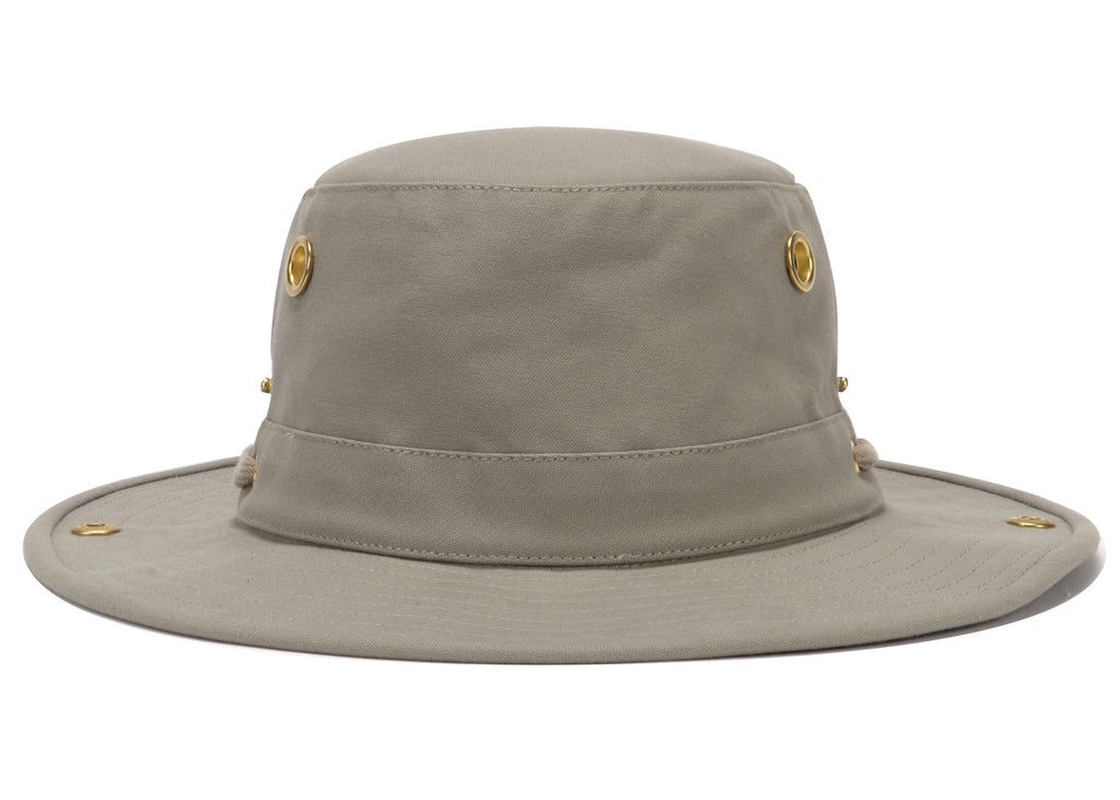 Tilley Khaki T3 Cotton Duck Snap up Hat