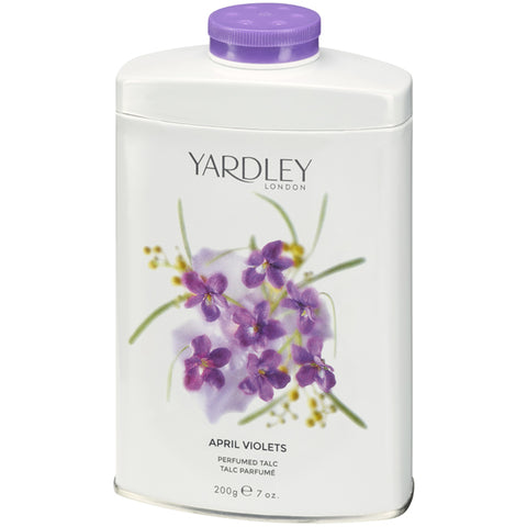 April Violets Perfumed Talcum Powder