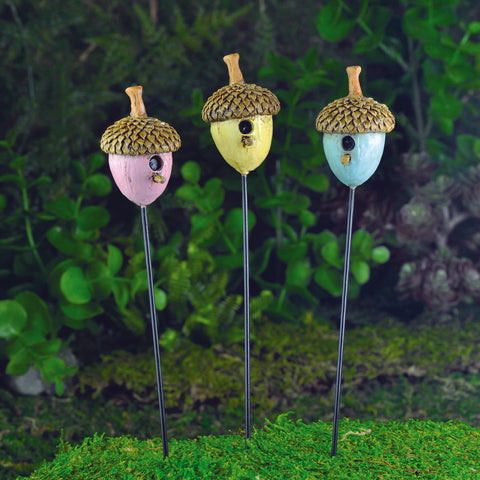 Fiddlehead Acorn Birdhouses, Set of 3